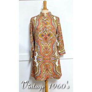 Vintage 1960s Lady Bayard Nehru Dress  size 10